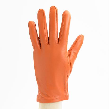 抗菌革・抗菌防臭裏生地を使用した革手袋(婦人用)オレンジ