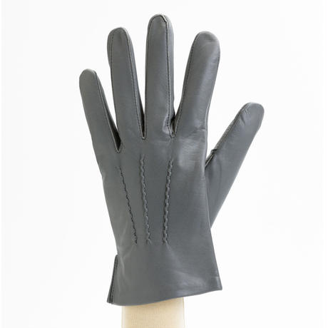 抗菌革・抗菌防臭裏生地を使用した革手袋(紳士用)グレー