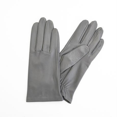 抗菌革・抗菌防臭裏生地を使用した革手袋(婦人用)グレー
