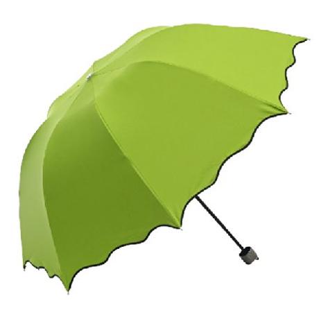 変色する折りたたみ傘