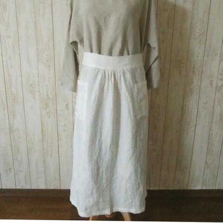 sarong apron リネン・ホワイト