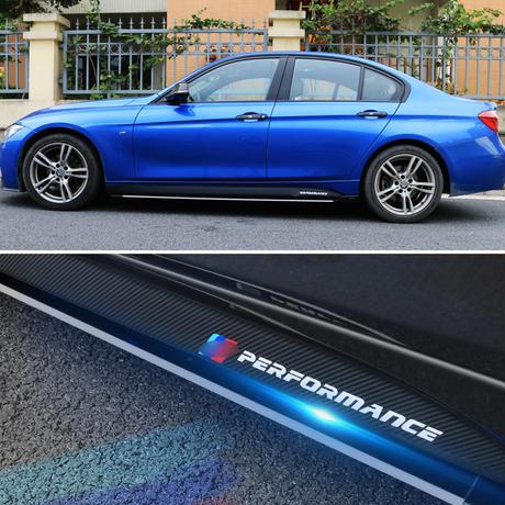 BMW ステッカー サイドスカート Mパフォーマンス ストライプ f30 f31 x5 f15 f85 e60 e61 f22 f23 f10 f11 f01 f01 f02 h00041