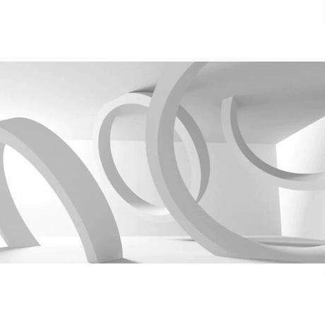 壁紙 立体空間デザイン アート 白 1ピース 1㎡ サイズカスタマイズ可能 部屋 リビング ショップ 店舗 m06119