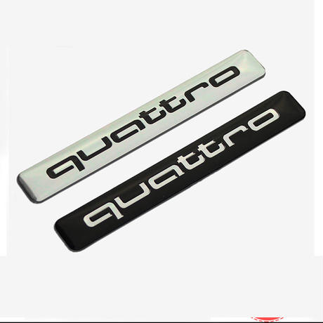 アウディ ステッカー quattro バッジ アルミ 4WD Audi A6 A5 A7 A3 A4 Q3 Q5 S4 S6 S8 TT h00378