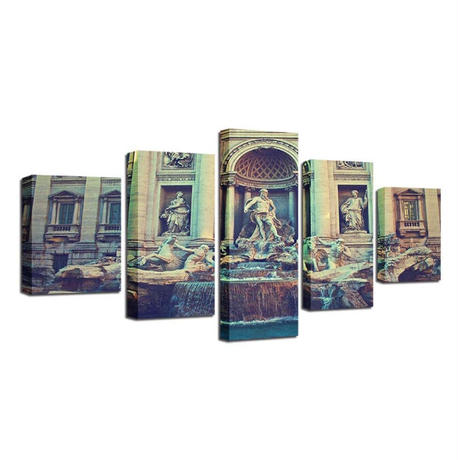 ☆壁掛けアートパネル☆ 20cm枠5点セット イタリア 古代ローマ 彫刻写真 芸術 美術 お洒落 インテリア m05540