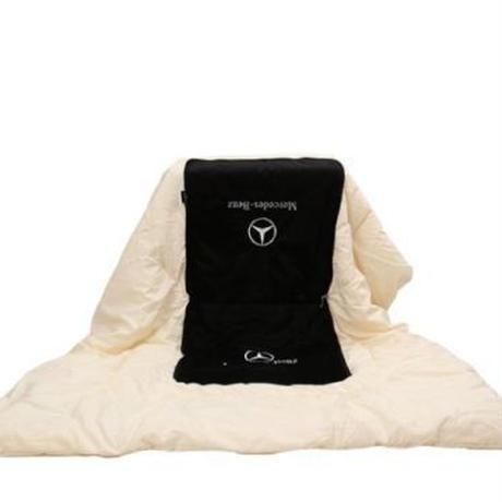 メルセデス ベンツ 広げると毛布になるクッション クッション ブランケット w203 w210 w211 w204 ces cls clk cla slk 00273