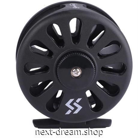 新品 フライリール 釣り道具 お洒落 フィッシング スプール ドラグ 黒 超軽量 魚 m01993