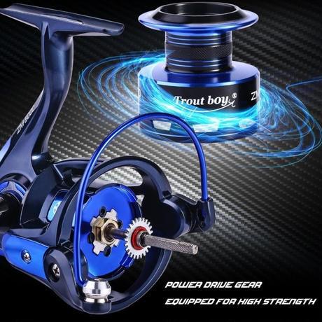 新品 スピニングリール 釣り道具 フィッシング 高性能ベアリング 鯉釣り 青×ネイビー 2000 / 3000 / 4000 /5000番 m02013