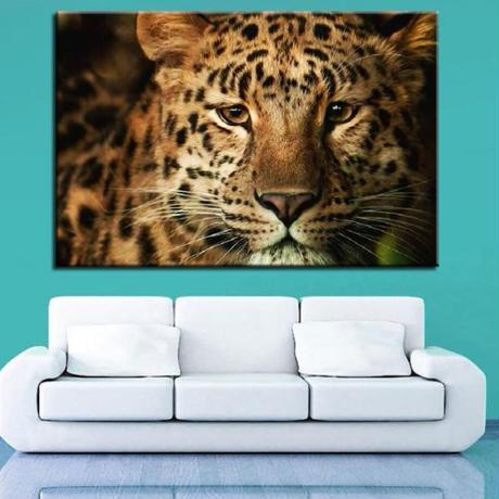 【お洒落な壁掛けアートパネル】 枠付き 40×60cm ヒョウ チーター 動物 写真 絵画 部屋 インテリア m06384