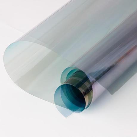 ウィンドウティントフィルム カメレオンカラー 青 VLT 可視光透過率65% 21×29.7cm 車や家の窓ガラスに m03132