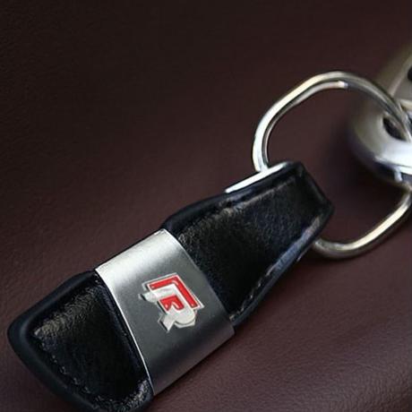 ワーゲン キーリング キーホルダー Volkswagen ブラック レザー h00490