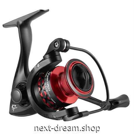 新品 スピニングリール 釣り道具 フィッシング 超軽量 高性能ベアリング 黒×赤 2000 / 3000 / 4000 / 5000番 m01945
