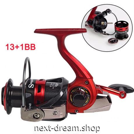 新品 スピニングリール 釣り道具 フィッシング 14BB 高速 高性能ベアリング 黒×赤 2000 / 3000 / 4000 /5000番 m02001