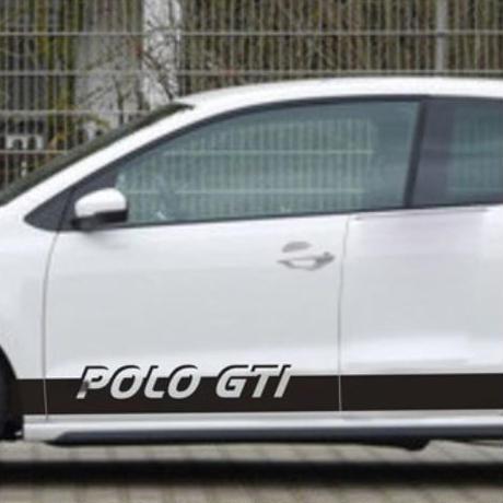 ステッカー 車 デカール VW フォルクスワーゲン ポロ POLO GTI用 Volkswagen ロゴ 外装 サイド ボディ 自動車 m02036