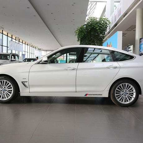BMW ステッカー カースタイリング X1 X3 X5 X6 e90 e46 e39 e60 f30 f10 最新 Mパフォーマンス ロゴ サイドスカート h00033