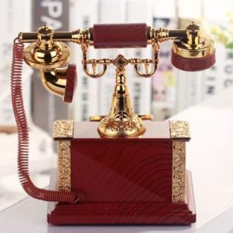 ジュエリーボックス オルゴール 古典赤電話型置物 装飾品