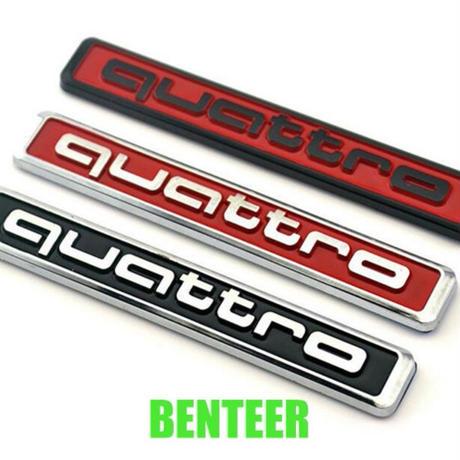 アウディ ステッカー quattro 10個入 バッジ Audi A6L A5 A7 A3 A4L Q3 Q5 S4 S6 S8 TT h00385