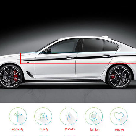 BMW ステッカー Mパフォーマンス ドアサイド ストライプ 5シリーズG30 h00043