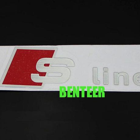 アウディ ステッカー 2個入 Sline アルミ audi A1 A3 A4 A6 A7 Q1 Q3 Q5 Q7 h00388