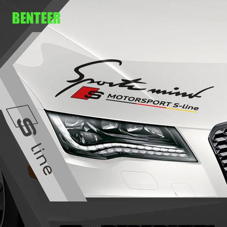 アウディ ステッカー ヘッドライト ロゴ RS Sline Audi h00369