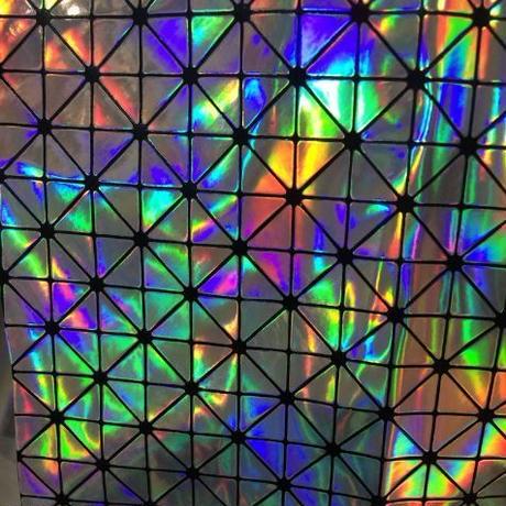 合成 ポリウレタン 三角形 ホログラフィック 革素材 137cm 装飾 ソファー 靴 防水 反カビ 摩耗抵抗 h00002