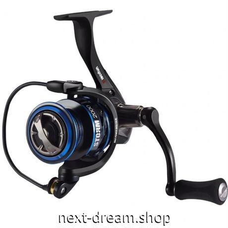 新品 スピニングリール 釣り道具 フィッシング 超軽量 高性能ベアリング 黒×青 2000 / 3000 / 4000 / 5000番 m01942