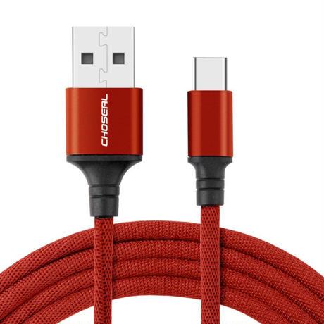 新品送料込 USBケーブル 50cm 赤 レッド タイプC  高速充電 データ送信 携帯 ラップトップ カメラ m00782