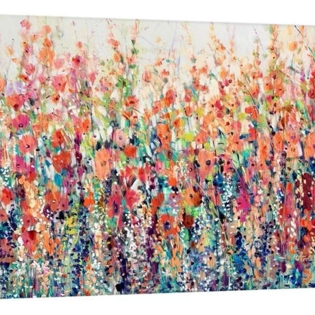 【お洒落な壁掛けアートパネル】 枠付き 30×42cm フラワー 春 花 水彩 絵画 部屋 インテリア m06335
