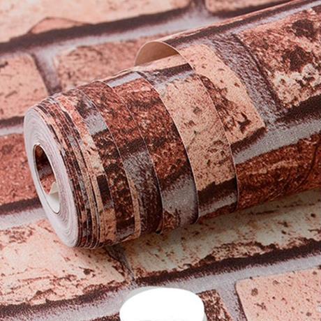 【壁紙】 レトロレンガ ヨーロッパ風 レッドブラウン 53cm×10m 高級ウォールペーパー 部屋 リビング キッチン 店 防水 DIY m03647