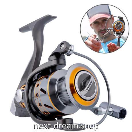 新品 スピニングリール 釣り道具 フィッシング 左右 高速 高性能ベアリング 黒×オレンジ 1000 / 2000 / 3000 / 4000番 m01999