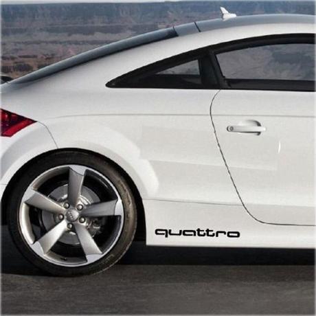 アウディ ステッカー 2個入 ロゴ quattro バッジ  リア ボディ エンブレム Audi h00367