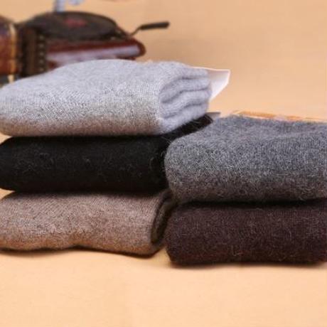 5組 カシミヤ靴下 暖かいラビットウールソックス 厚手 登山 冬用 現場用 ウォーキング 25~28cm 0042
