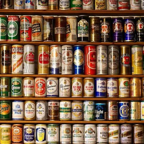 【カスタム3D壁紙】 1ピース 1㎡ COFFEE 世界のビール 缶 棚 バル バー お店 クロス張替 リメイクシート m04741