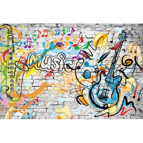 壁紙 8D素材 レンガ ウォールアート 落書き 1ピース 1㎡ サイズカスタマイズ可能 部屋 リビング ショップ 店舗 m06143