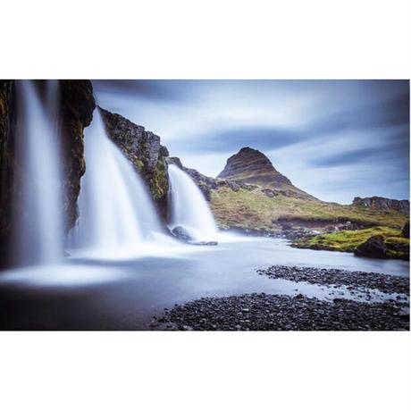壁紙 自然風景 滝 マウンテン 1ピース 1㎡ サイズカスタマイズ 部屋 リビング 寝室 ショップ 店舗 m06094