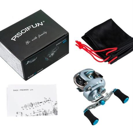 新品 ベイトリール 釣り道具 お洒落 フィッシング  7BB 6.5:1 磁気ブレーキ 超軽量 シルバーブルー 右ハンドル m01934