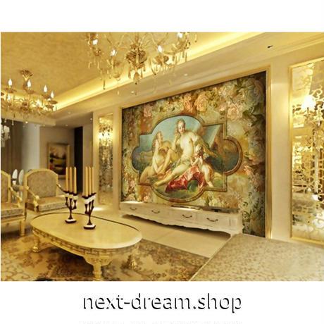 【カスタム3D壁紙】 1ピース 1㎡ ヨーロッパレトロ 油絵デザイン ホテル お店 クロス張替 リメイクシート m04743