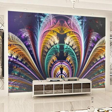 3D 壁紙 1ピース 1㎡ カーニバル アート 羽根 DIY リフォーム インテリア 部屋 寝室 防湿 防音 h03194