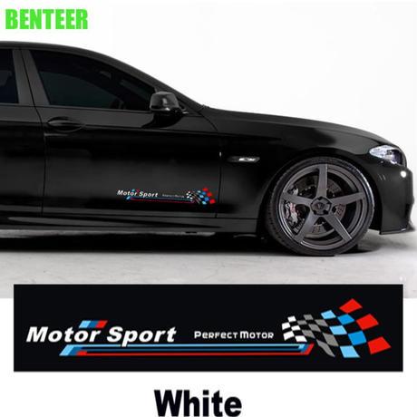 BMW ステッカー ドアサイド Mパフォーマンス モータースポーツ エンブレム F10 F20 F30 1 3 5 GTシリーズ X1 X3 X4 X5 X6 h00196