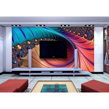 【カスタム3D壁紙】 1ピース 1m2 ファッション 美 ジュエリーアート カラフル キャンバス地 クロス張替 部屋 m05323