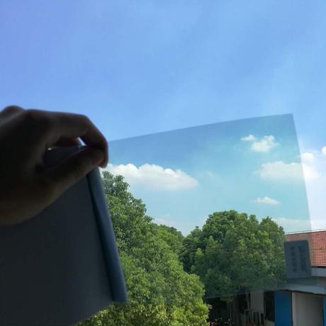 ウィンドウティントフィルム ライトブルー ナノセラミック VLT 可視光透過率70% 50×152cm 車や家の窓ガラスに m03134