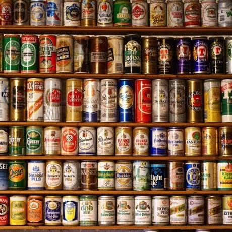 壁紙 棚デザイン 世界の缶ビール バー 1ピース 1㎡ サイズカスタマイズ可能 部屋 リビング ショップ 店舗 m06133