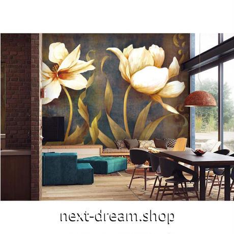 カスタム3D壁紙 1ピース 1㎡ 花柄 レトロ フラワー キッチン 寝室 リビング クロス張替 リメイクシート m04488