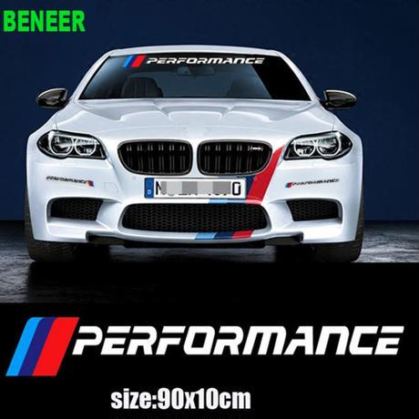 BMW ステッカー Mパフォーマンス フロントガラス E30 E34 E36 E39 E46 E60 E70 E71 E85 E87 E90 F10 F20 F30 1-Xシリーズ h00203
