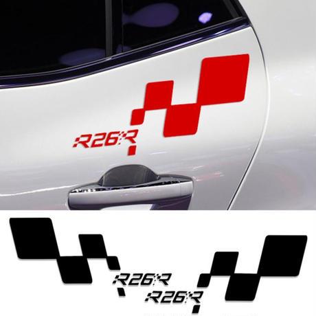 ルノー クリオ ステッカー R26 ドアサイド デカール スポーツ Clio R.S Twingo Megane h00183