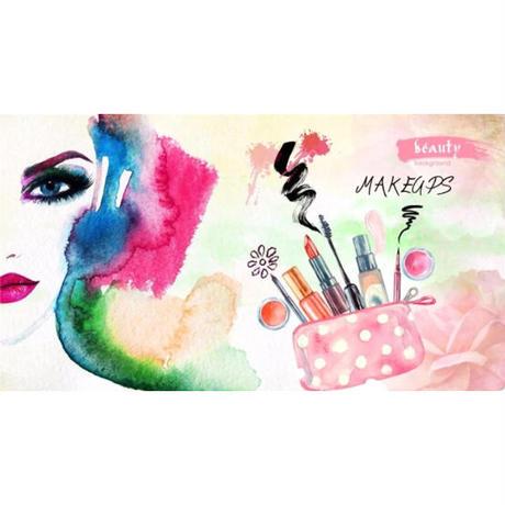 【カスタム3D壁紙】 1ピース 1m2 美容サロン ヘアメイク スタジオ キャンバス地 クロス張替 部屋 m05306
