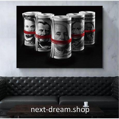 【お洒落な壁掛けアートパネル】 枠付き 40×60cm レトロマネー 外貨 著名人 紙幣 絵画 部屋 インテリア m06344