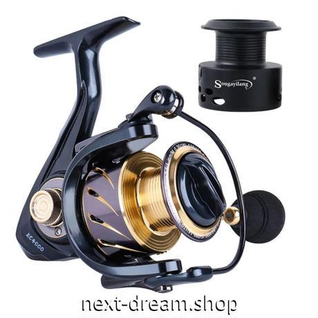 新品 スピニングリール 釣り道具 フィッシング 左/右交換ハンドル 黒×ゴールド 1000 / 2000 / 3000 / 4000 / 5000番 m02015