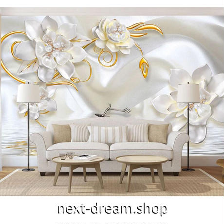 壁紙 8D素材 真珠 ジュエリー 白 1ピース 1㎡ サイズカスタマイズ可能 部屋 リビング ショップ 店舗 m06140