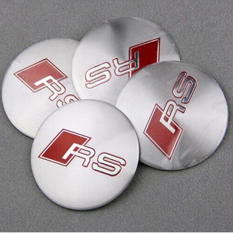 アウディ バッジ ホイールスティック ステンレス RS エンブレム Audi A1 A3 A4 A6 A8 TT Q3 Q5 Q7 S h00381